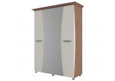 «Лагуна 7» Шкаф для платья и белья Четырехстворчатый (1,6м)