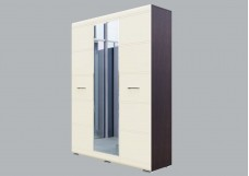Модульная система №1 (Шкаф трехстворчатый) Дуб венге/Жемчуг