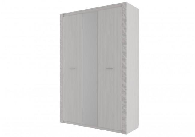 Шкаф комбинированный трехстворчатый Ясень анкор светлый/ Сандал светлый