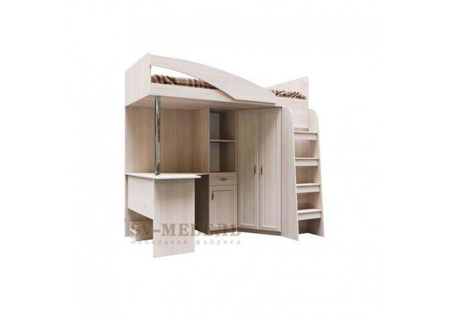 ДМ-15 Кровать двухъярусная (комбинированная) (Без матраца 0,9*2,0) Сосна Карелия
