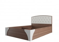 «Лагуна 7» Кровать двойная (универсальная 1,6*2,0м) со стразами