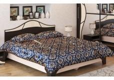 Кровать двойная (1,4*2,0 м) Дуб венге/Дуб млечный