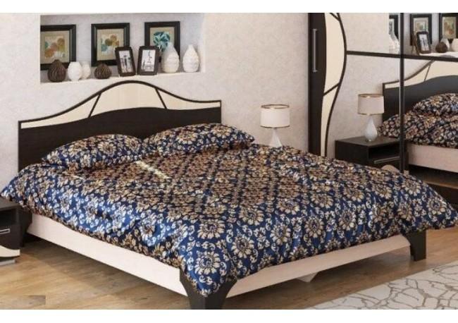 Кровать двойная (1,6*2,0 м) Дуб венге/Дуб млечный