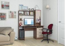 Стол компьютерный №6 Дуб Венге/Дуб Млечный