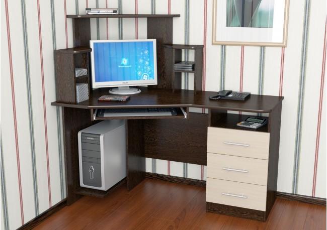 Стол компьютерный №3 Дуб Венге/Дуб Млечный