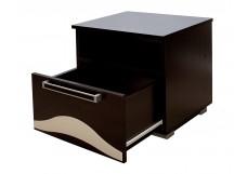 Набор мебели для спальни «Лагуна 5» Тумба прикроватная Дуб венге