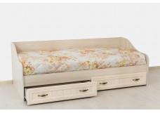 Модульная система для гостиной и спальни «Вега» ДМ-09 Кровать без матраца (0,8*1,86) Сосна Карелия